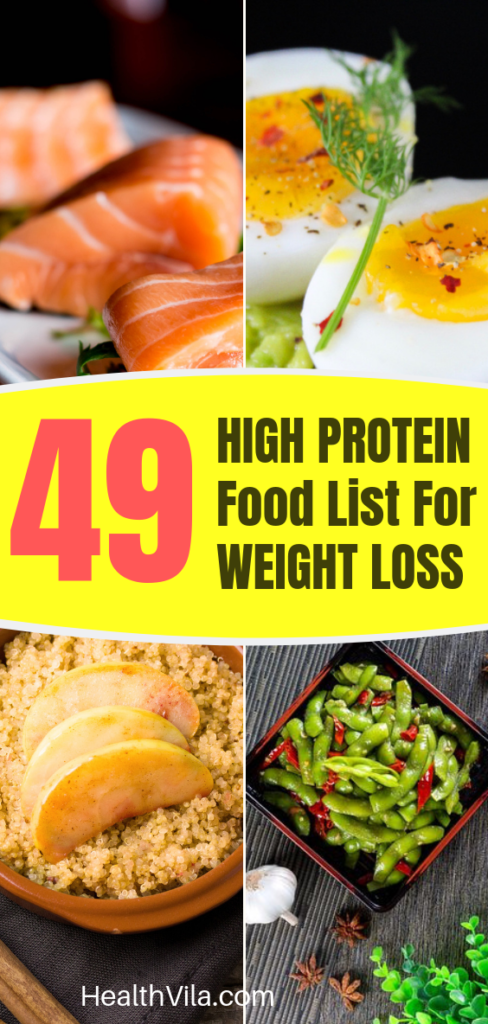 High Protein Diet for Weight Loss Food Lists